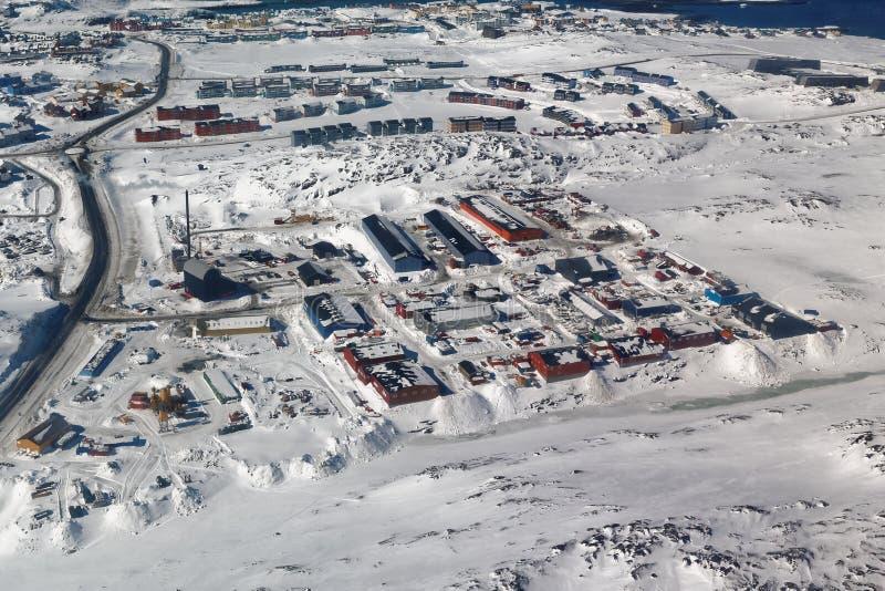 Przemysłowy teren w Nussuaq obrazy stock