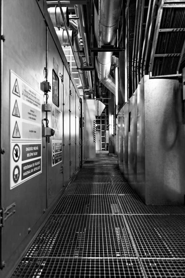 Przemysłowy wnętrze elektrownia obraz royalty free
