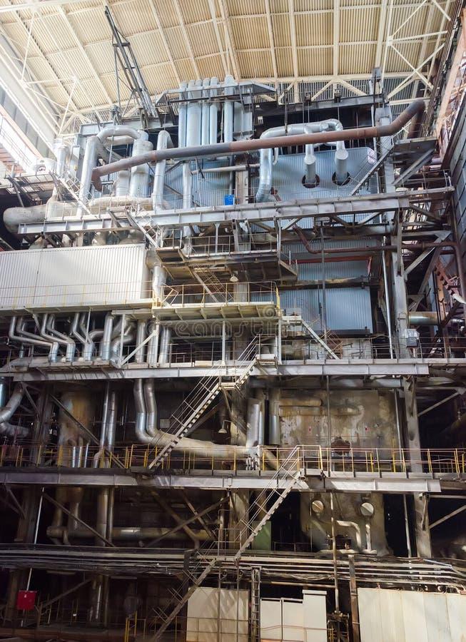 Przemysłowy wnętrze upał elektrownia zdjęcia royalty free