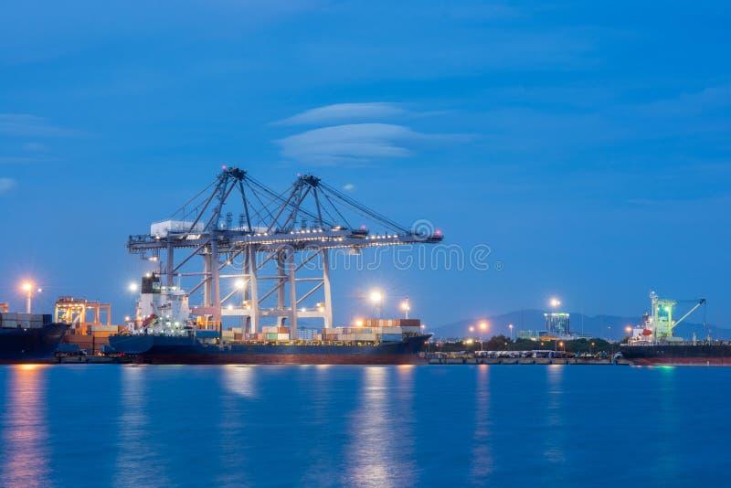 Przemysłowy wysyłka port fotografia stock