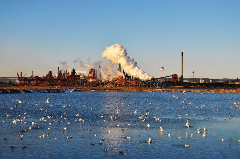 Przemysłowy zanieczyszczenie obrazy royalty free