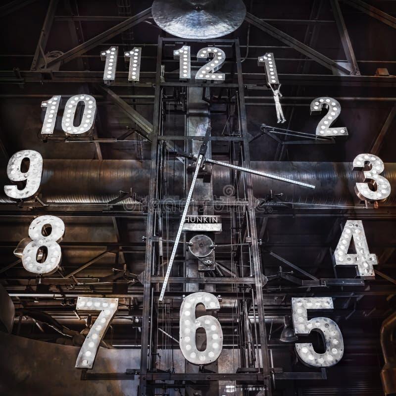 Przemysłowy zegar zdjęcia royalty free