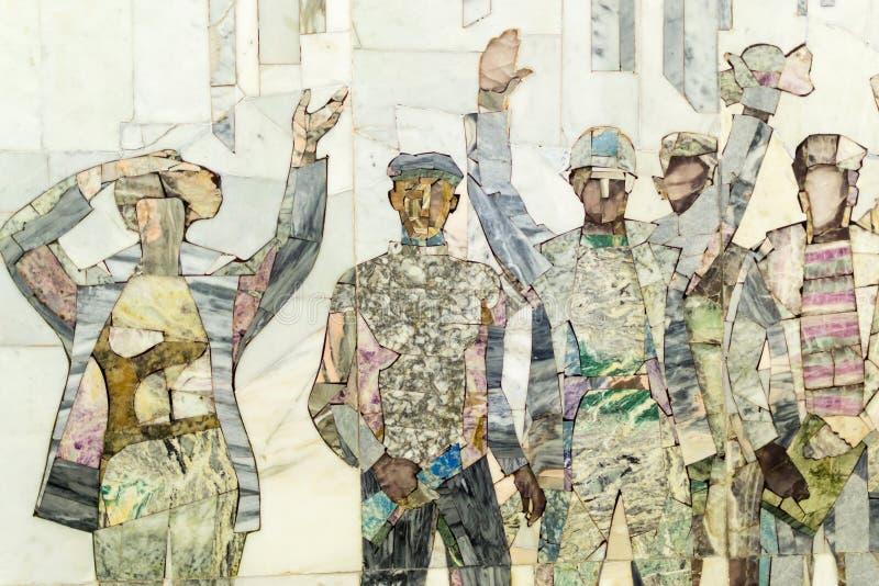 Przemysłowych pracowników Ścienny abstrakt zdjęcie stock