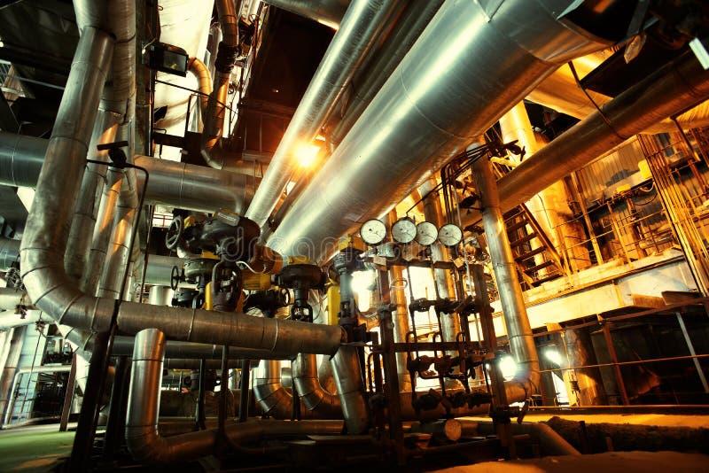 przemysłowych rurociąg stalowa strefa zdjęcie stock