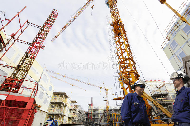 Przemysłu budowlanego i miejsca pracownicy fotografia royalty free