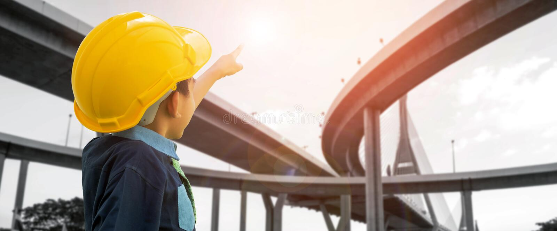 Przemysłu budowlanego i transportu pojęcia zdjęcie stock
