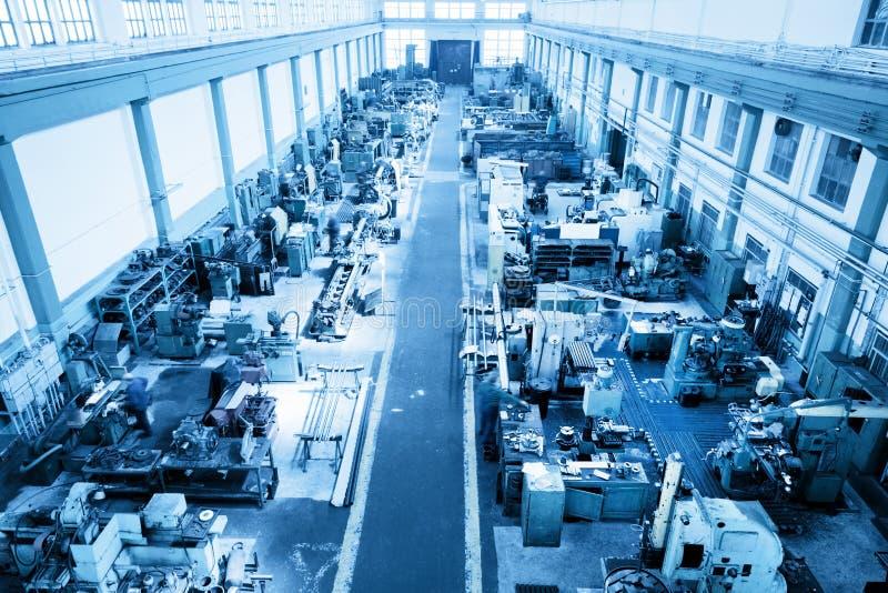 Przemysłu ciężkiego warsztat, fabryka w widok z lotu ptaka obrazy royalty free