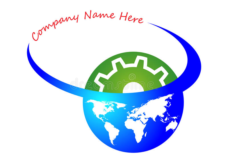 przemysłu globalny logo ilustracja wektor