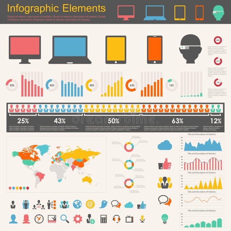 przemysłu informatycznego Infographic elementy ilustracja wektor