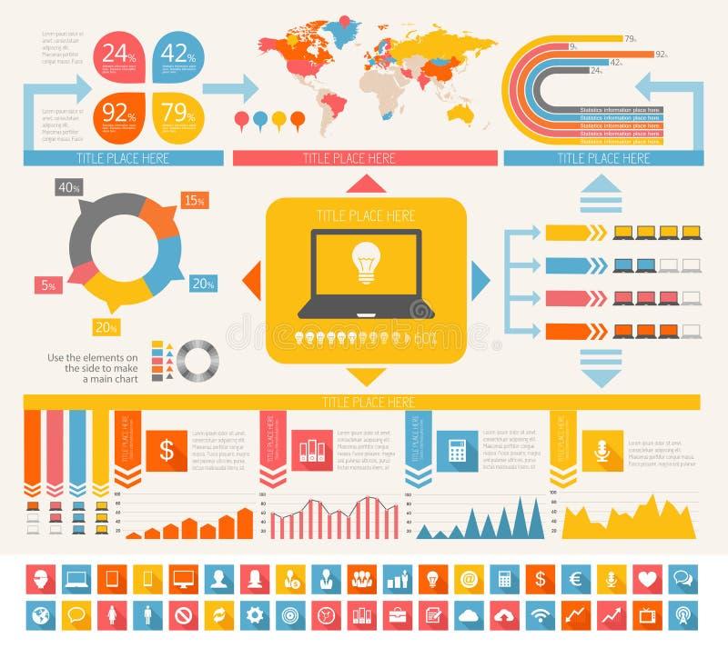 przemysłu informatycznego Infographic elementy royalty ilustracja