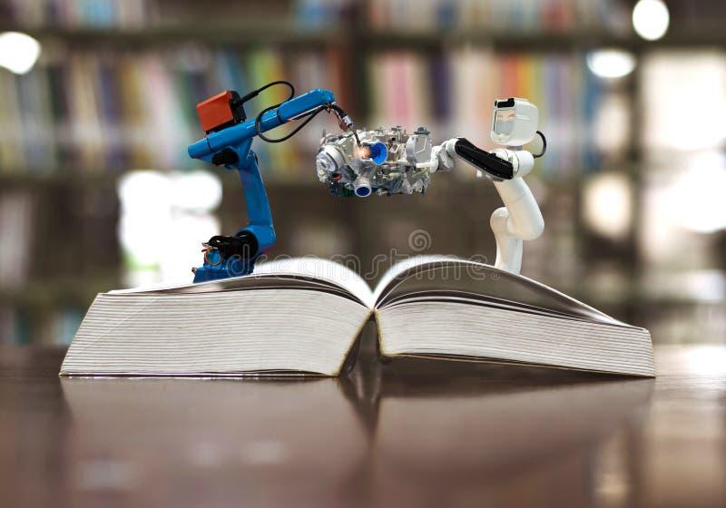 Przemysłu robot 4 (0) machinalnej ręki manufaktur rozdziela technologię obrazy stock