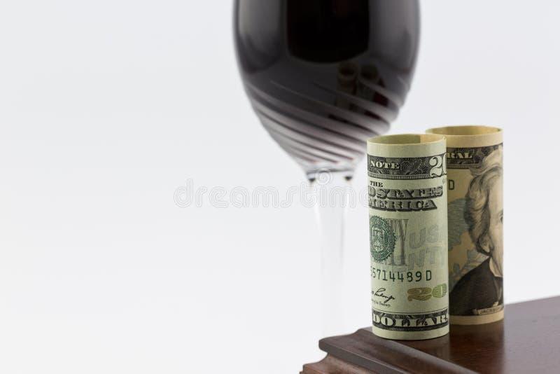 Przemysłu winiarskiego i pieniężnych inwestycj wzrost fotografia royalty free