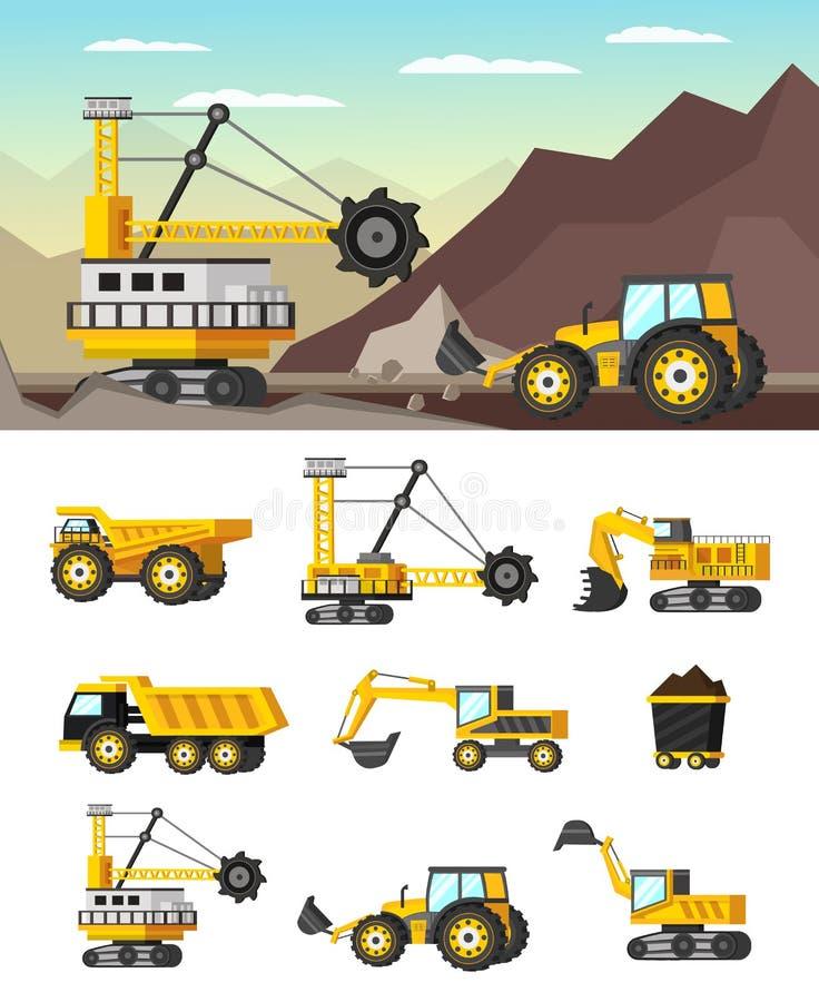 Przemysłu Wydobywczego Ortogonalny pojęcie ilustracji