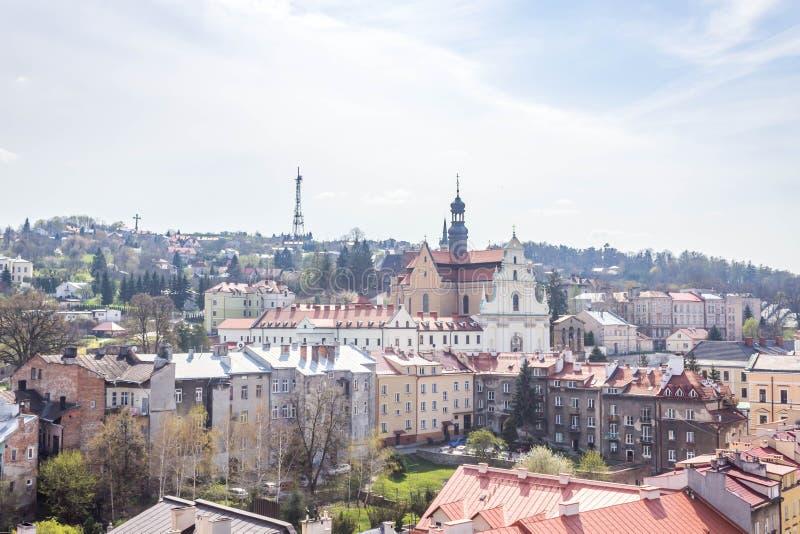 Przemyski, Polska, - Kwiecień 14, 2019 Odgórny widok miasto zdjęcie royalty free