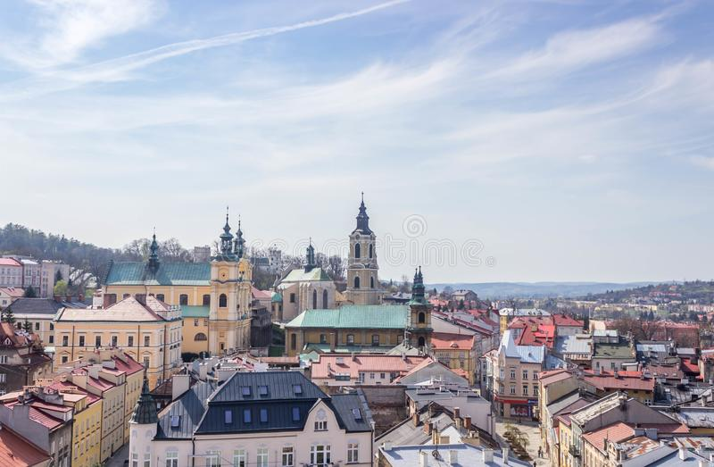 Przemyski, Polska, - Kwiecień 14, 2019 Odgórny widok miasto obraz royalty free