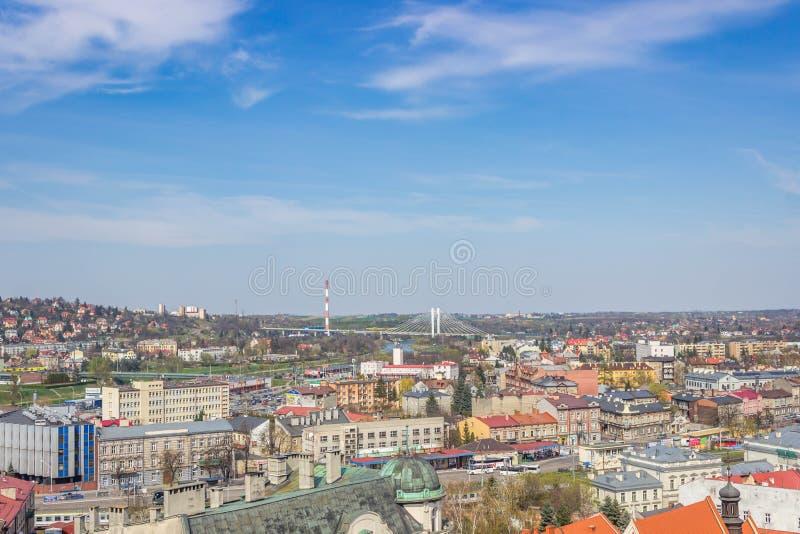 Przemyski, Polska, - Kwiecień 14, 2019 Odgórny widok miasto zdjęcia royalty free