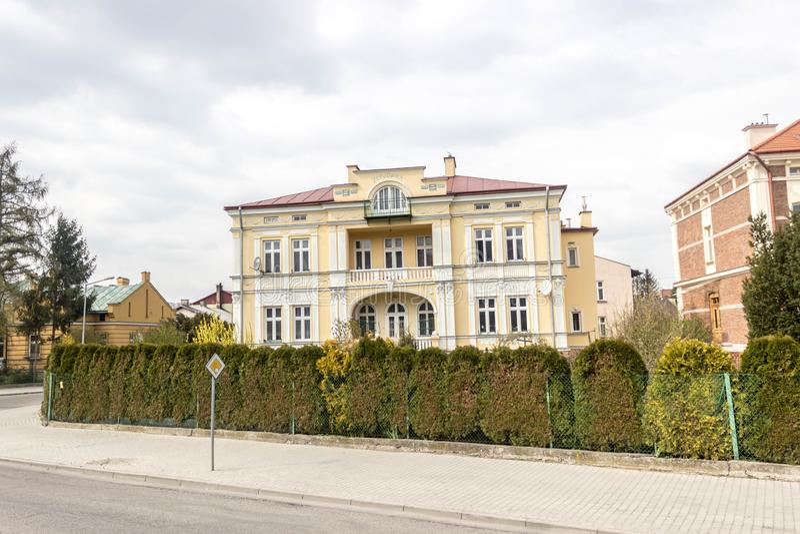 Przemyski, Polska, - Kwiecień 13, 2019 Widok budynki mieszkalni w Przemyskim zdjęcia stock