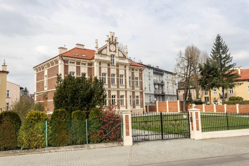 Przemyski, Polska, - Kwiecień 13, 2019 Widok budynki mieszkalni w Przemyskim zdjęcie stock