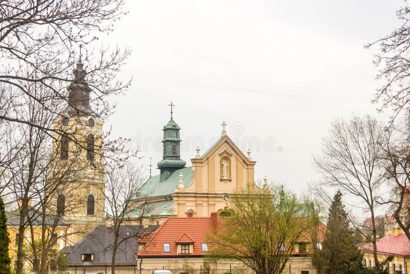 Przemysl, Polonia, - 13 de abril de 2019 La catedral de Przemysl oficialmente la basílica de la catedral de la suposición del ben imágenes de archivo libres de regalías