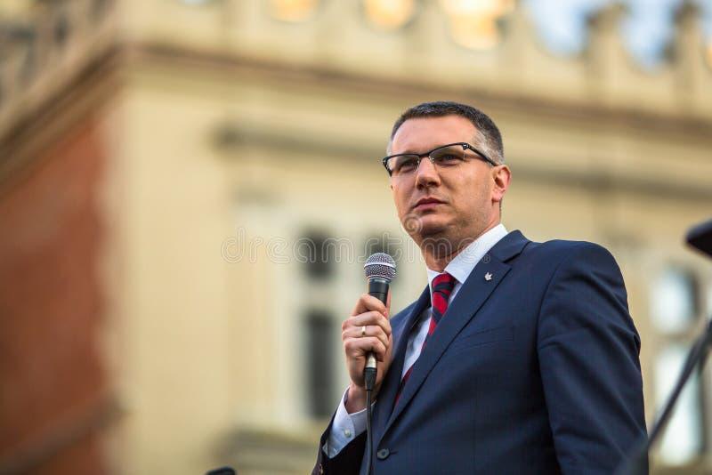 Przemyslaw Wipler - polsk politiker, parlamentsledamot av sammankallanden VII fotografering för bildbyråer