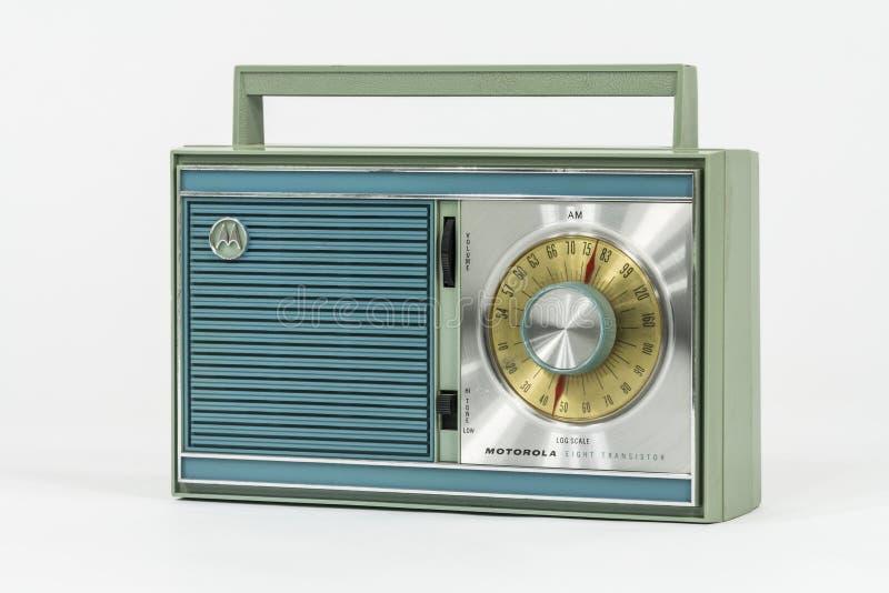 Przenośne Radio Tranzystorowe Motorola 1960 zdjęcie royalty free
