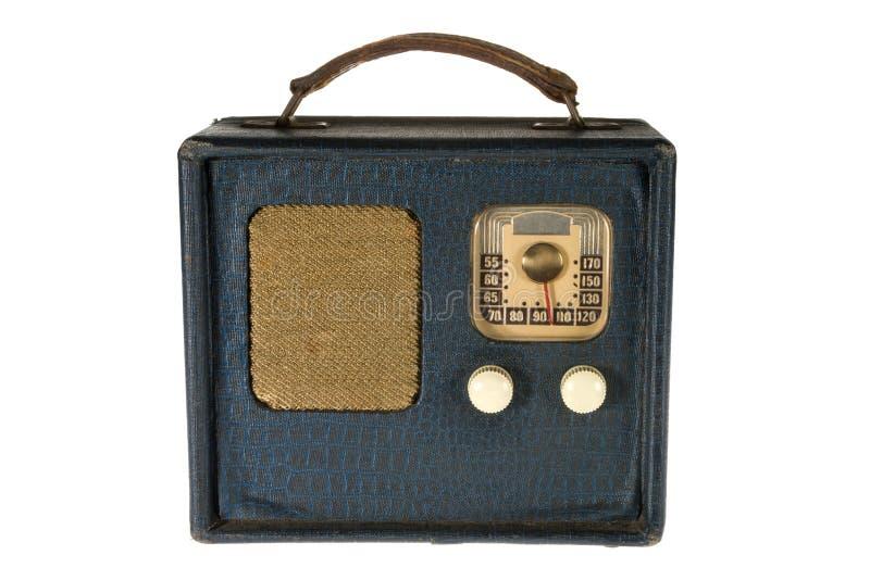 przenośnego radia retro rocznik zdjęcie stock
