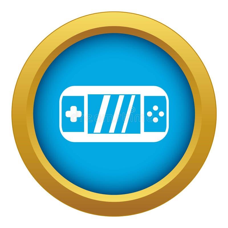 Przenośnej gra wideo konsoli ikony błękitny wektor odizolowywający ilustracji