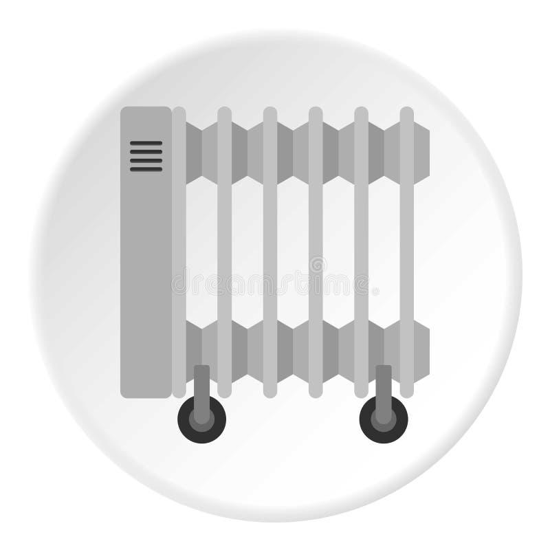 Przenośny elektrycznego nagrzewacza ikony okrąg royalty ilustracja