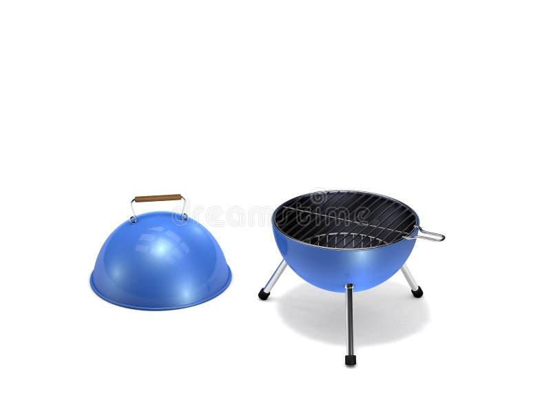 Przenośny grilla grill ilustracja wektor