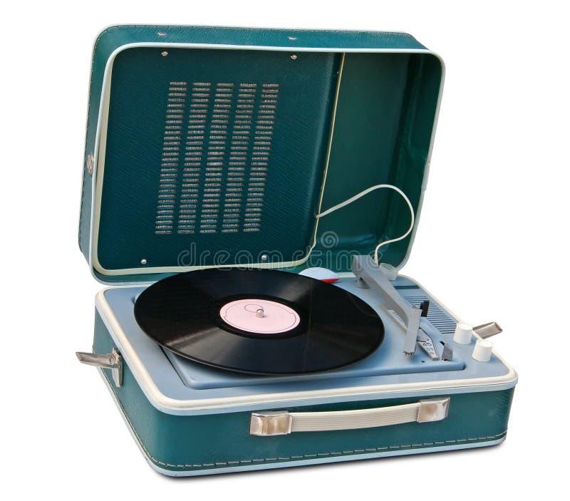 przenośny retro turntable zdjęcie stock