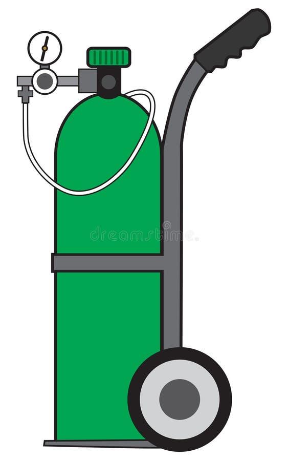 Przenośny zbiornik tlenu ilustracja wektor