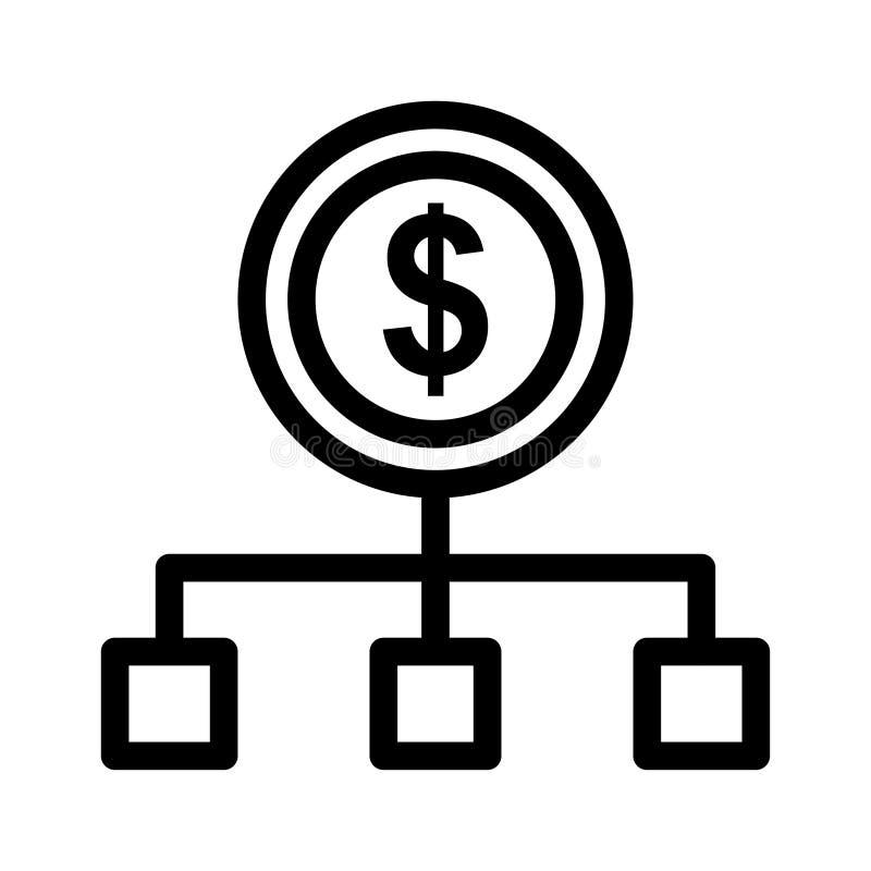 Przepływ gotówki ikona ilustracji