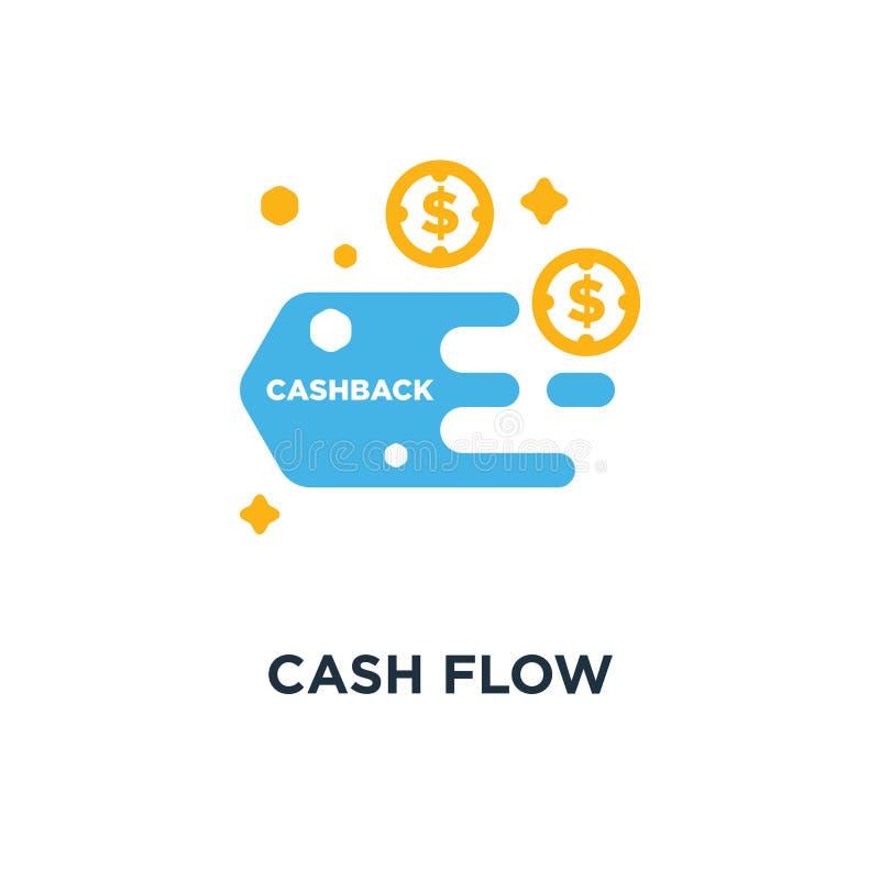 Przepływ gotówki ikona funduszu pojęcia symbolu projekt, koszt optymalizacja ilustracji