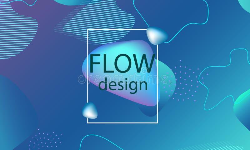 Przepływ kształtuje tło Falista abstrakt pokrywa ilustracji