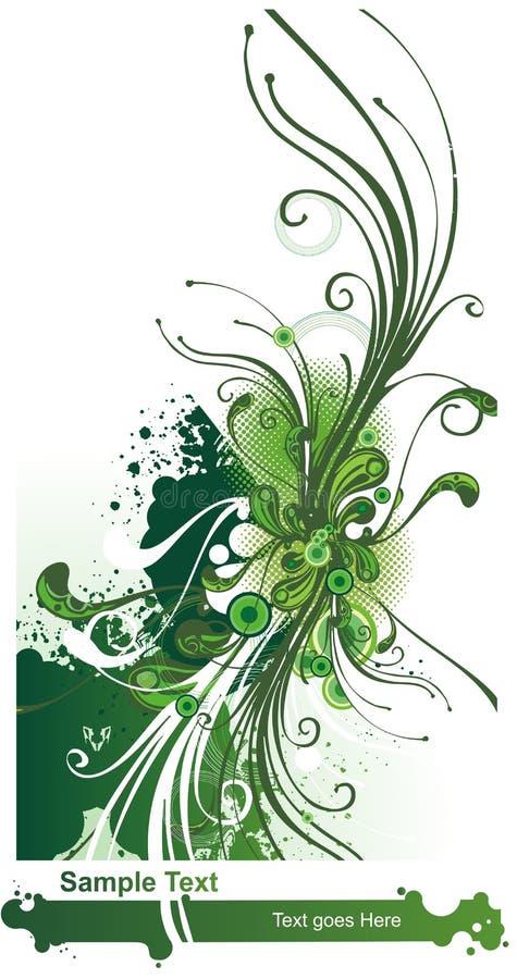 przepływ kwiecisty abstrakcyjne ilustracja wektor