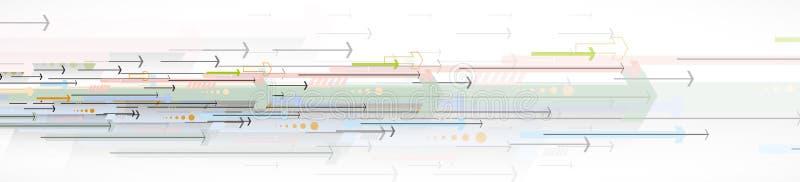 Przepływ strzała Wyobraźnia biznesu lub technologii proces ilustracji