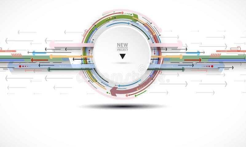 Przepływ strzała Wyobraźnia biznesu lub technologii proces V ilustracji