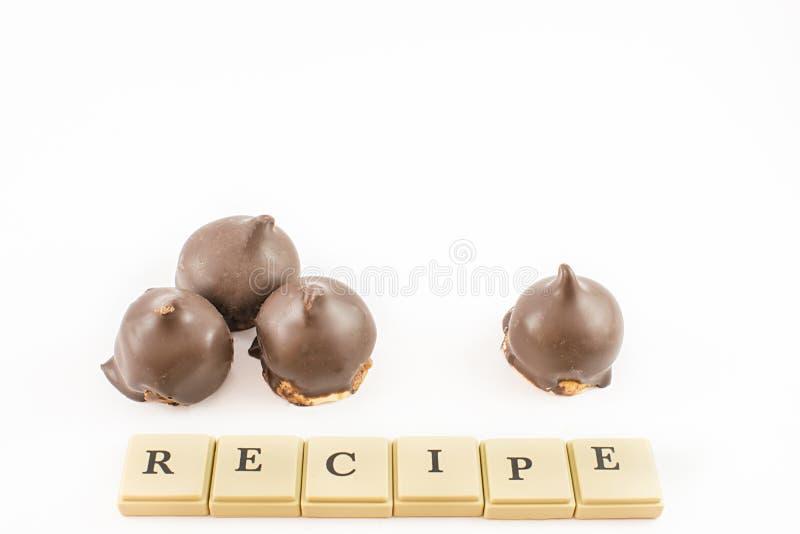 Przepis dla słodkich skombinowań obrazy stock