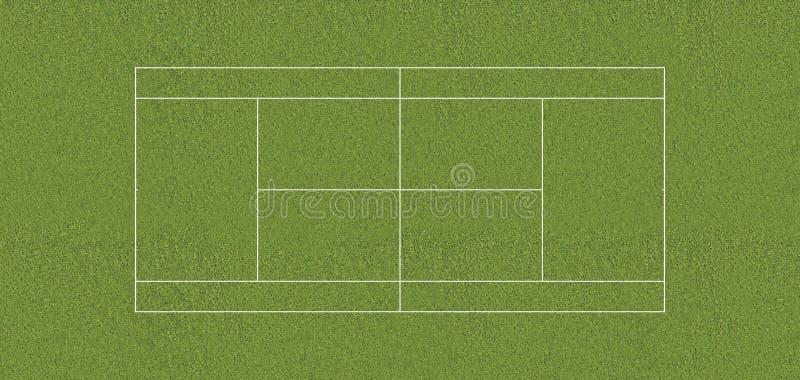Przepisowa tenisowego sądu trawa ilustracji
