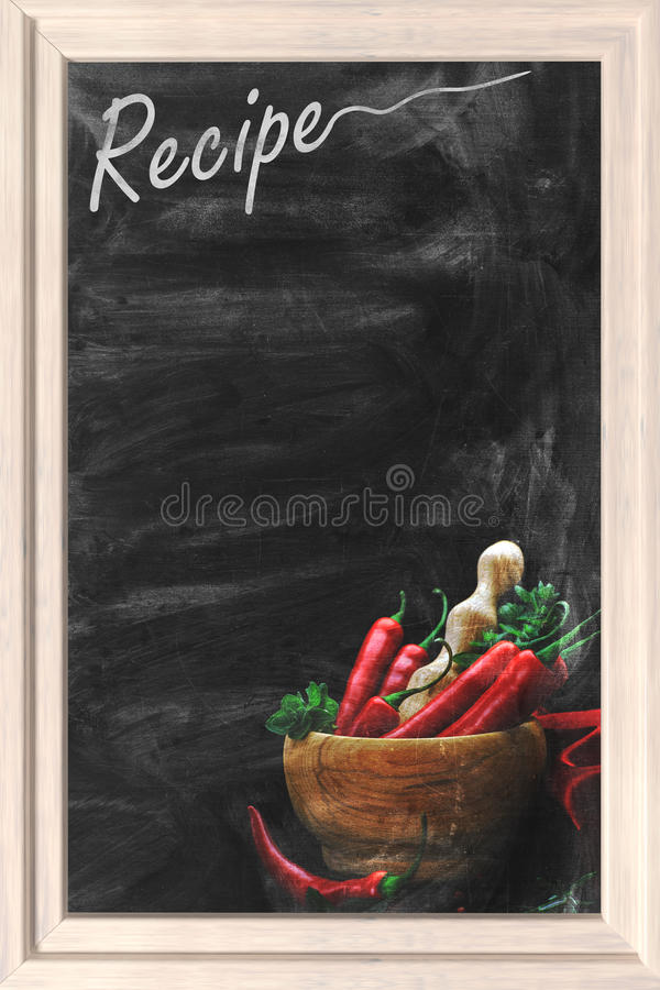 Przepisu chalkboard fotografia stock