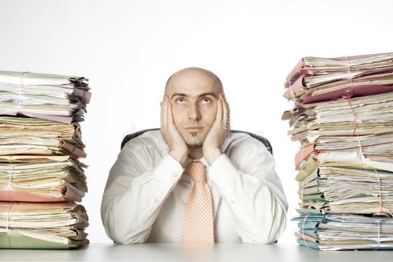 przepracowywający się administrator obraz stock