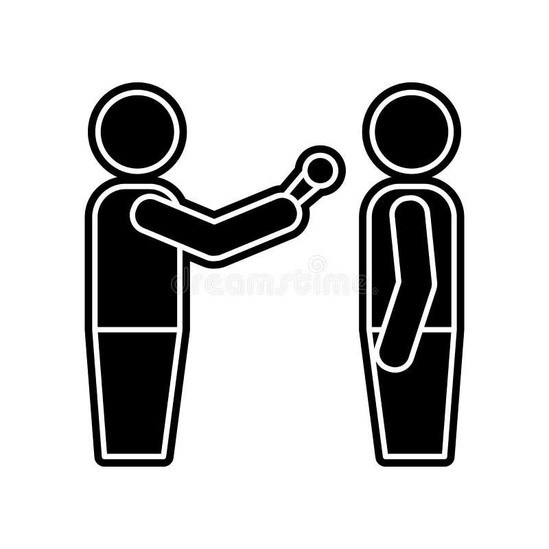 przeprowadzać wywiad ikonę Element środka narzędzie dla mobilnego pojęcia i sieci apps ikony Glif, płaska ikona dla strona intern ilustracji