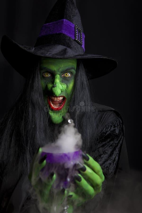 przerażająca czarownica zdjęcie royalty free