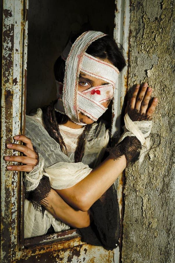 Przerażająca horror kobieta zdjęcia royalty free