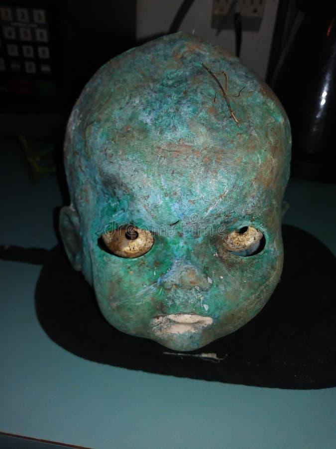 Przerażająca lali głowa fotografia royalty free