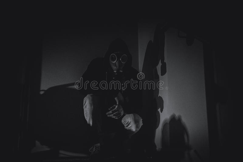 Przerażająca maska gazowa fotografia royalty free