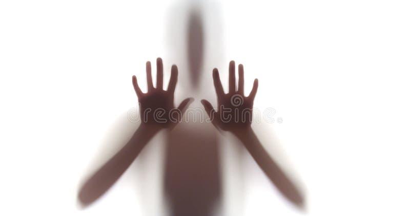 Przerażająca sylwetka kobieta zdjęcie royalty free