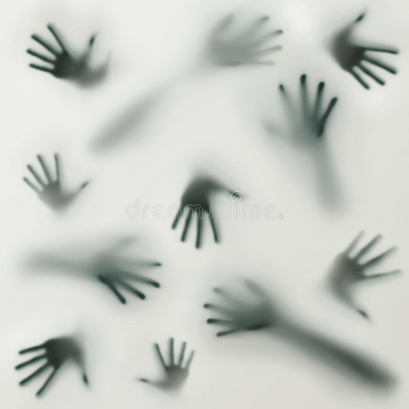 Download Przerażająca Sylwetka Wiele Różne Ręki Obraz Stock - Obraz złożonej z święcący, kreatywnie: 28963761