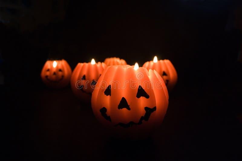 przerażające świece. fotografia stock