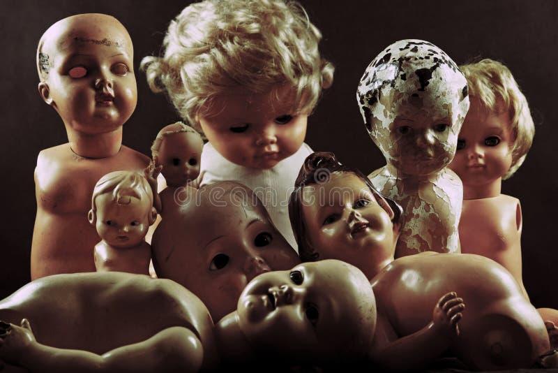 Przerażające lale fotografia stock